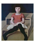 The Artist's Youngest Daughter Giclee Print by Albin Egger-lienz