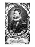 Portrait of a Gentleman Believed to Be Thomas Harriot, C.1620 Giclee Print by Francis Delaram