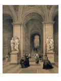 Sacred Staircase of Santi Sanctuary in Rome, Illustration from the Album 'Rome Dans Sa Grandeur' Giclee Print by Felix Benoist