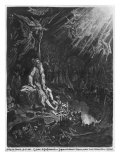 The Wandering Jew and the Last Judgement, engraved by Felix Jean Gauchard Giclee Print by Gustave Doré