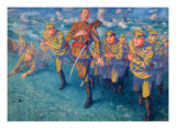 In the Firing Line, 1916 Giclee Print by Kuzma Sergeevich Petrov-Vodkin