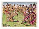 How a Sentry was Treated for Negligence Giclee Print by Jacques Le Moyne