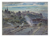 Edinburgh from Near St. Anthony's Chapel on the Northwest Shoulder of Arthur's Seat Giclee Print by John Gendall