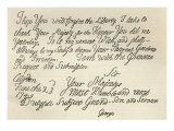 Letter from George III to grandfather the King, 23rd June 1749, published in 'Leisure Hour', 1891 Giclee Print