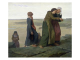 The Widow or The Fisherman&#39;s Family Giclee Print by Evariste Vital Luminais