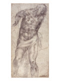 Figure Study Giclee Print by  Michelangelo Buonarroti