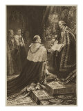 The Coronation Ceremony of 1902: the Position of King Edward VII at Taking of Oath Giclee Print by Samuel Begg