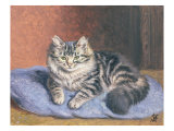 The Blue Cushion Giclee Print by Horatio Henry Couldery