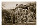 Bridge Built by Troops on the Orange and Alexandria Rail Road, 1861-65 Giclee Print by Mathew Brady & Studio