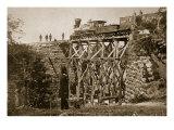 Bridge Built by Troops on the Orange and Alexandria Rail Road, 1861-65 Giclee Print by Mathew Brady & Studio
