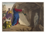 The Raising of Lazarus, Illustration from a Catechism 'L'Histoire Sainte', Paris, Late 19th Century Giclée-Druck