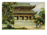 Buddhist Temple at Kyoto, Japan, from 'The History of Mankind', Vol.III, by Prof. Friedrich Ratzel Giclee Print by Ernst Heyn