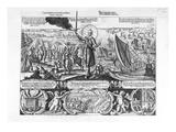 Gustavus Adolphus Landing at Stralsund in 1630 Giclee Print by Georg Koler