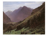 Mountain Study, c.1840-43 Giclee Print by Alexandre Calame
