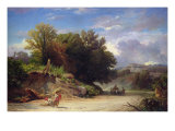Landscape on the Outskirts of Rome, 1853 Giclee Print by Jean Achille Benouville