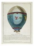 View of the Balloon used by Francois Pilatre de Rozier Giclee Print