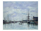 Deauville, the Dock, 1892 Giclee Print by Eugène Boudin