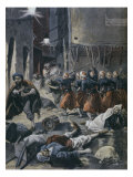 Violent Anti-semitic Riots in Algiers, Illustration from 'Le Petit Journal', February 1898 Giclee Print by Fortune Louis Meaulle