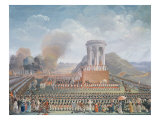 Festival of the Federation, 14th July 1790 Giclee Print by Jean Alexis Cornu