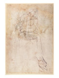 Study for the Ignudi above the Persian Sibyl in the Sistine Chapel, 1508-12 Giclee Print by  Michelangelo Buonarroti