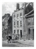 House of Sir Isaac Newton at 35 St Martin's Street, Leicester Square, London, 1850 Giclee Print by John Wykeham Archer