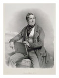 Portrait of David Roberts Giclee Print by Charles Baugniet