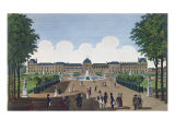 The Tuileries and the Tuileries Gardens, c.1815-20 Giclee Print by Henri Courvoisier-Voisin
