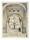 Door of the Hall of Ambassadors, from 'Sketches and Drawings of the Alhambra', engraved by William  Giclee Print by John Frederick Lewis