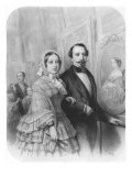 Queen Victoria and Napoleon III Emperor of France, Visiting the Art Gallery in Paris Giclee Print by Emile Lassalle