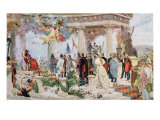 Ceremonial Curtain of the Croatian National Theatre, 1895 Giclee Print by Vlaho Bukovac