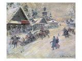 A Festive Walk, Russia Giclee Print by Konstantin A. Korovin
