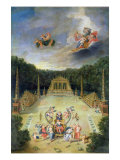 The Groves of Versailles. L'Arc de Triomphe Giclee Print by Jean Cotelle the Younger