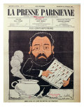 Front Cover of 'La Presse Parisienne' with a Caricature of Emile Zola Giclee Print by Emile Cohl