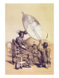 Umpanda the King of the Amazulu, 1849 Giclee Print by George French Angas