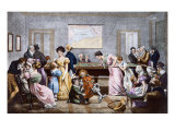 A Billiard Room in the nineteenth century, 1828 Giclee Print by Julien Leopold Boilly
