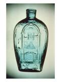 Mould-blown Masonic Flask, Keene Giclee Print