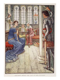 Put away from you that sword, illustration from 'Stories of King Arthur and the Round Table' Giclee Print by Walter Crane