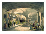The King at New Cross Station Giclee Print by Edouard Pingret