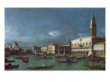 The Grand Canal with the Church of Santa Maria della Salute Giclee Print by Bernardo Bellotto