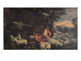 Moses and the Burning Bush Giclee Print by Jacopo Bassano
