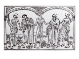 Death Taking the Monk and the Abbot, from the Danse Macabre, published Paris, 1485 Giclee Print by Guy Marchant