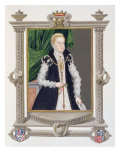 Portrait of Mildred Cooke, Lady Burghley from 'Memoirs of the Court of Queen Elizabeth', published  Giclee Print by Sarah Countess Of Essex