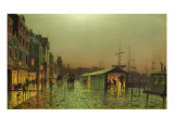 Liverpool Docks Giclee Print by John Atkinson Grimshaw