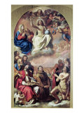 The Glory of the Saints, 1645-47 Lámina giclée por Guercino