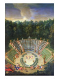 View of the Salle de Bal with a Performance of 'Rinaldo and Armida', 1688 Giclee Print by Jean Cotelle the Younger