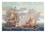The Taking of English Vessel 'The Java' by the American Frigate, 'The Constitution' Giclee Print by Louis Ambroise Garneray