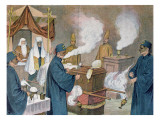Funeral in a Masonic Lodge in Austria, 1897 Giclee Print