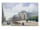 Southeast Aspect of the 1862 Exhibition Building, Looking along Cromwell Road Giclee Print by William Callow
