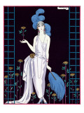 La Roseraie', Fashion Design for an Evening Dress by the House of Worth Giclée-trykk av Georges Barbier