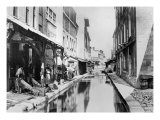 Course of the Bievre in Paris with Tanneries, 1858-78 Giclee Print by Charles Marville